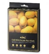 Антивозрастная маска для лица с протеинами кокона шелкопряда  Kims Gold Silk Cocoon Face Mask  (набор из 5 шт.)