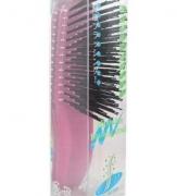 719837 Щетка массажная для сухих,ослабл.волос с минералами горных пород (с изогнутой ручкой,малая)